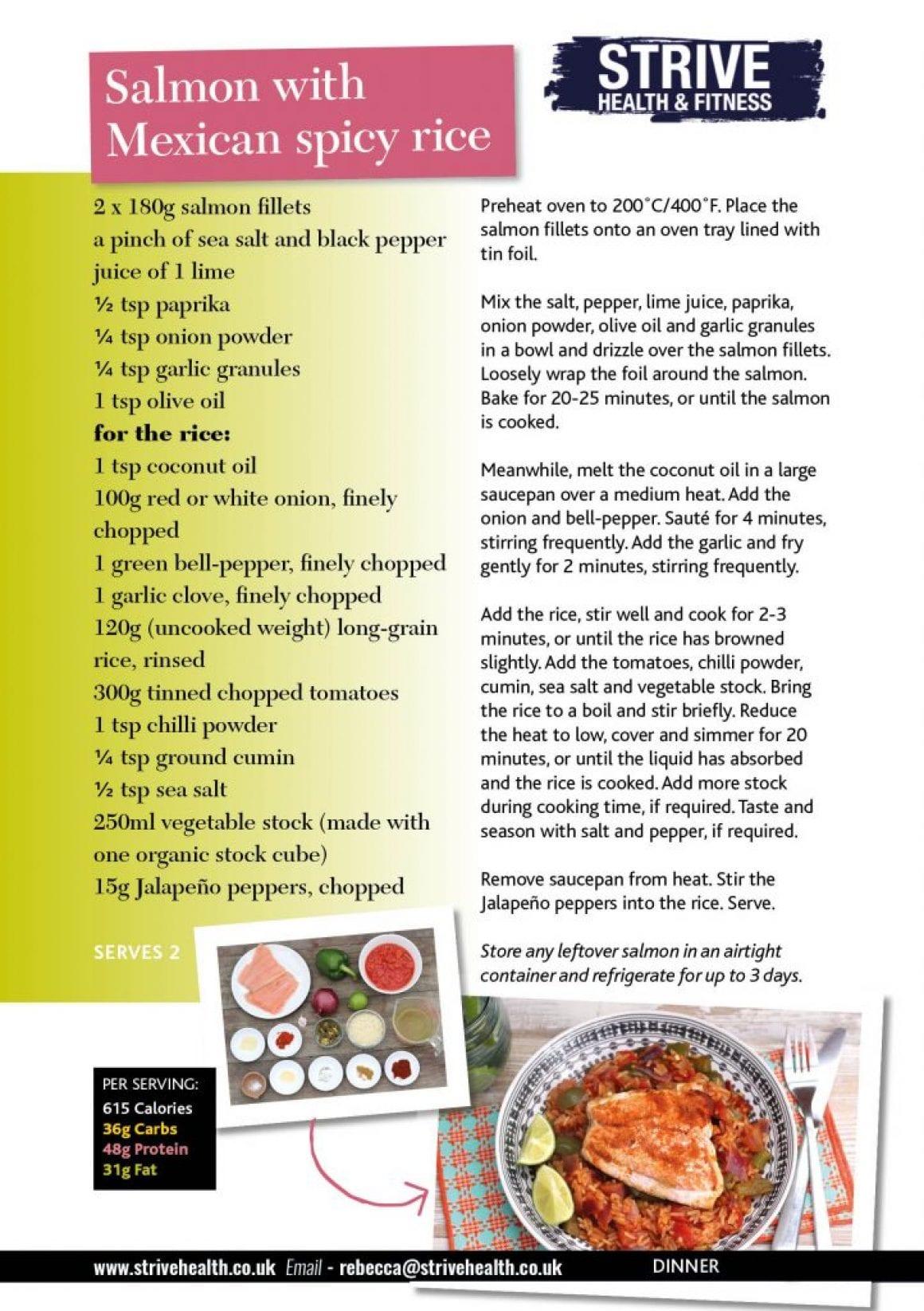 salmon and rice recipe