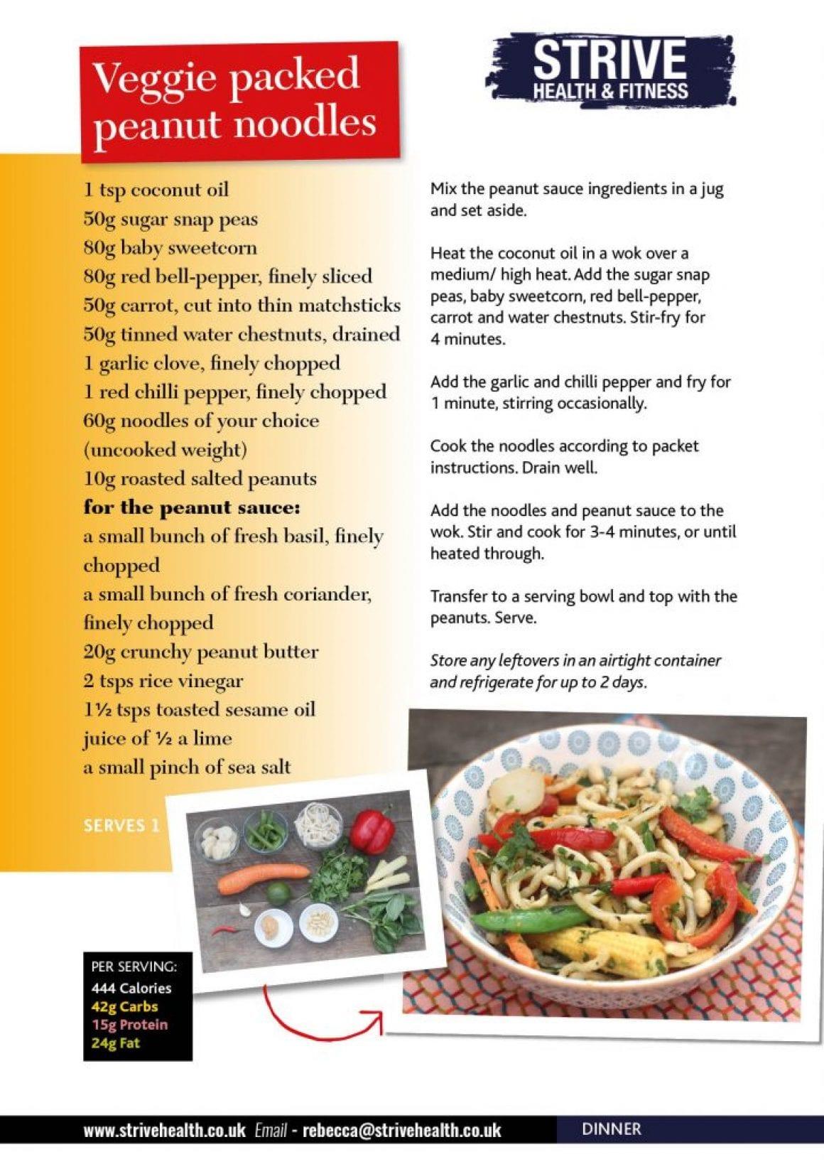June19 Veggie packed Peanut Noodles