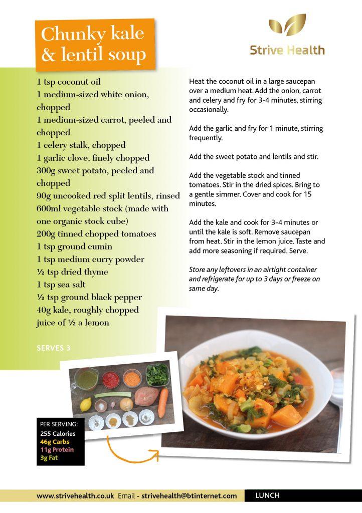 Chuncky kale & lentil soup