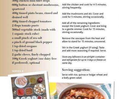 chickenmushroom and bean stroganoff